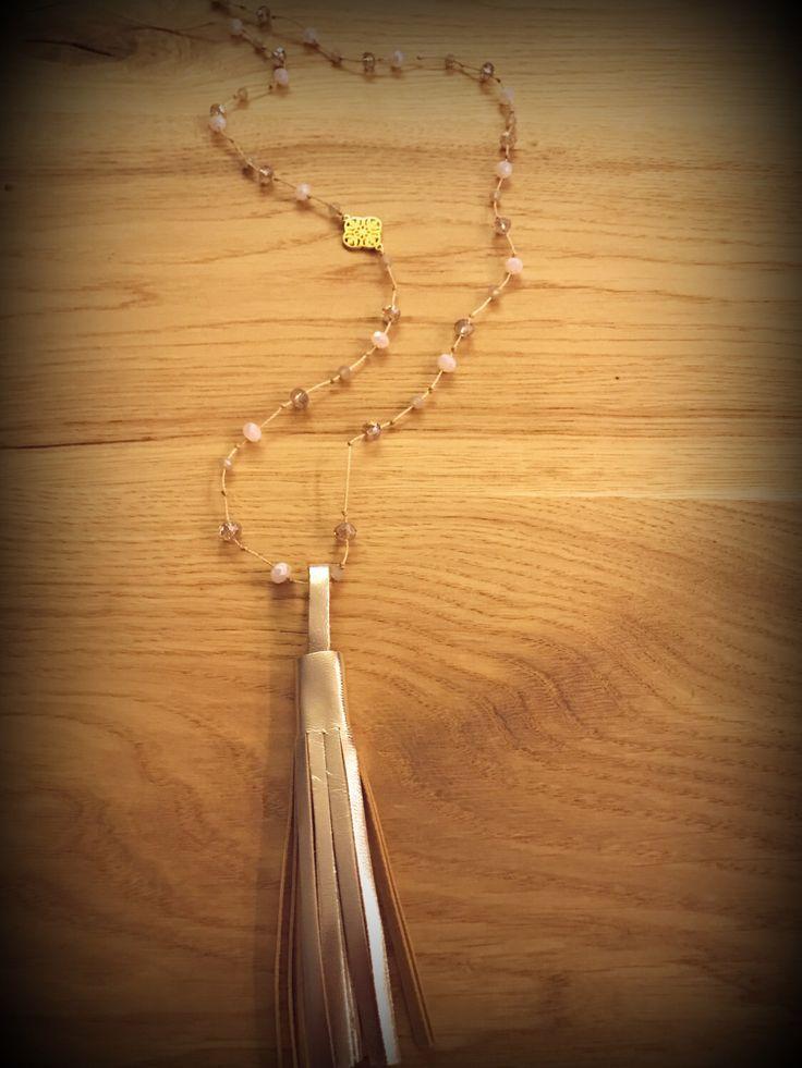 Tassel beaded rosary...handmade...