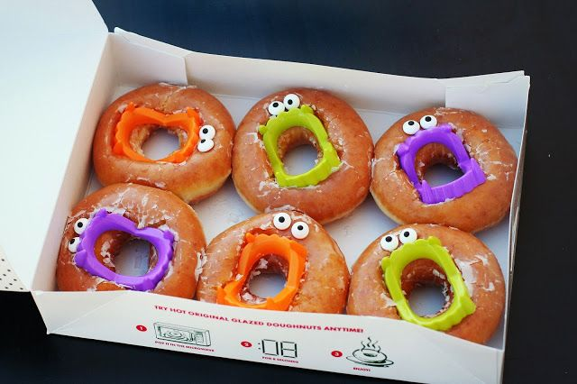 Halloween Donuts for a class party - Sink your teeth into these treats