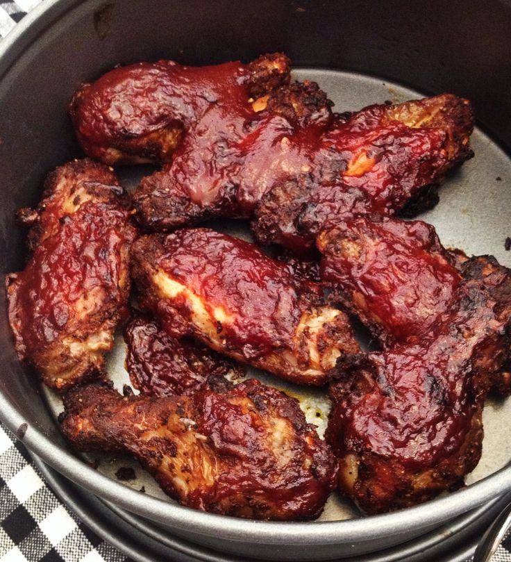 Chicken wings BBQ-style uit de Airfryer