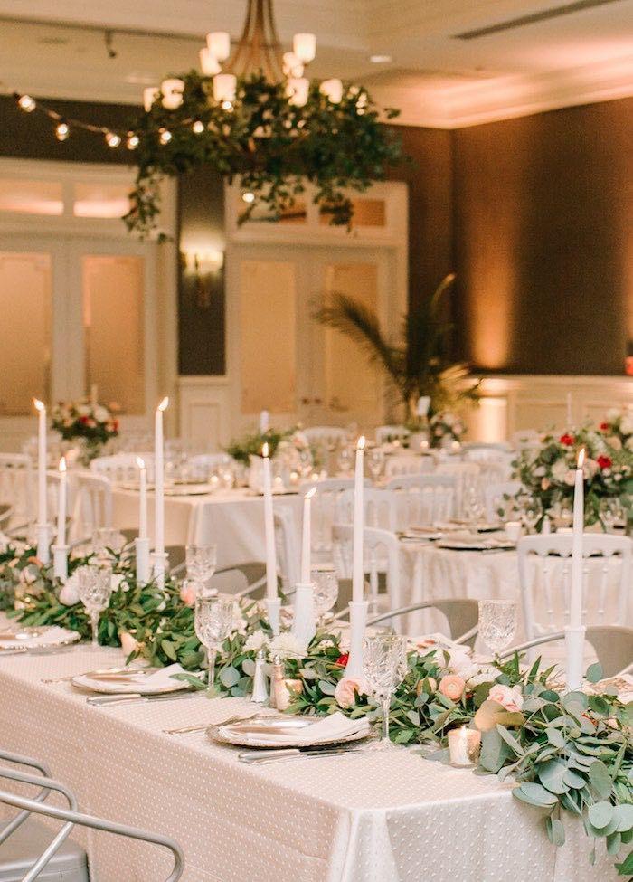 romantic wedding centerpiece idea; via Stems Floral Design and Productions