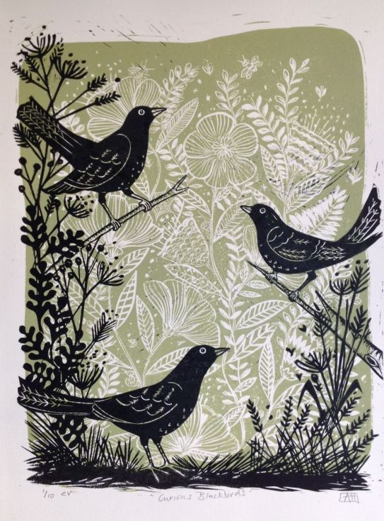 Buy Curious Blackbirds, Linocut by Alison Headley on Artfinder. Discover thousands of other original paintings, prints, sculptures and photography from independent artists.