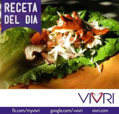 http://vivri360.blogspot.mx/2014/02/tacos-de-lechuga.html #VIVRI #RECETA