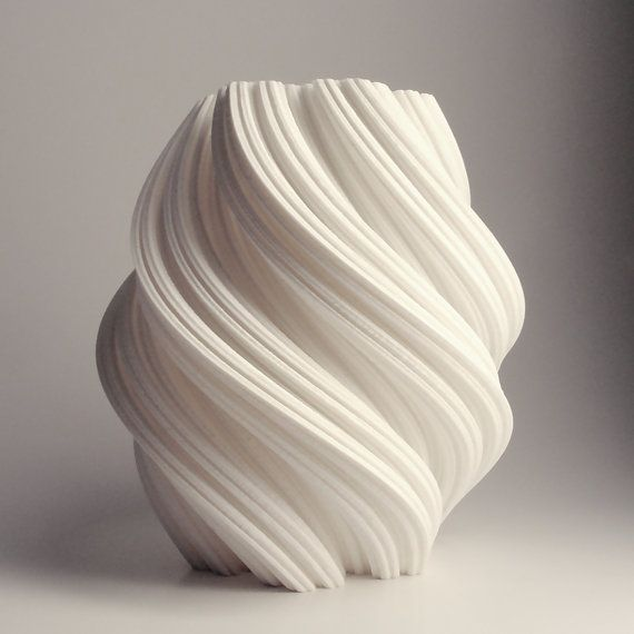 White Geometric Vase, Snowflake, 3D Printed Vase, Modern Art, 3D Lamp, Fractal, Accent decor, Modern Vase, Tall Vase, home decor,