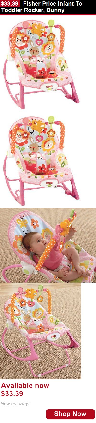 Baby bouncers and vibrating chairs: Fisher-Price Infant To Toddler Rocker, Bunny BUY IT NOW ONLY: $33.39