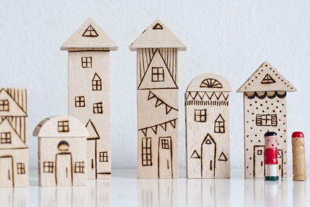 DIY Wood Burned Toy Blocks / UKKONOOA: Polttokuvioidut palikat                                                                                                                                                                                 More