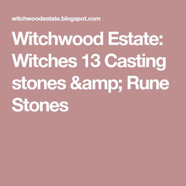 Witchwood Estate: Witches 13 Casting stones & Rune Stones