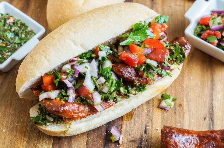 Choripán (Argentinian Chorizo, Chimichurri, and Salsa Sandwich) (3 of 3)