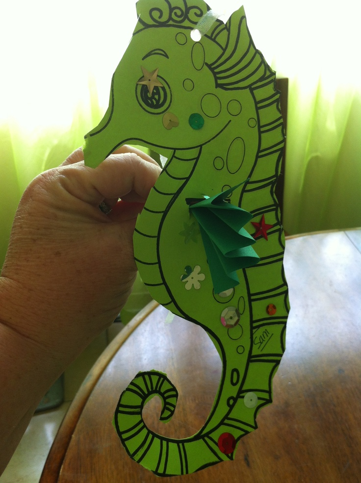 45 best Seahorse Craft images on