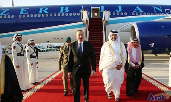 President of Azerbaijan Arrives in Doha