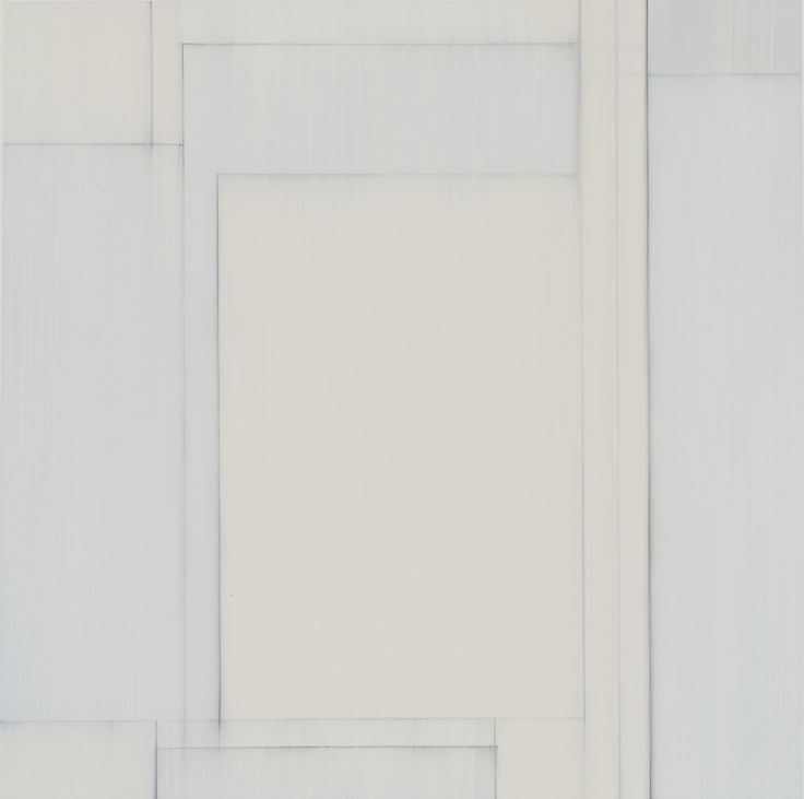 """Julian Jackson, """"Other Rooms 6"""" 2015 Oil and pencil on paper 16 x 16 in, paper size 22 x 22 in"""