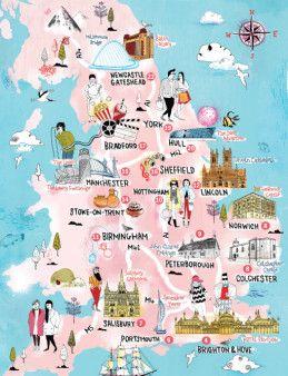 Visit England Map