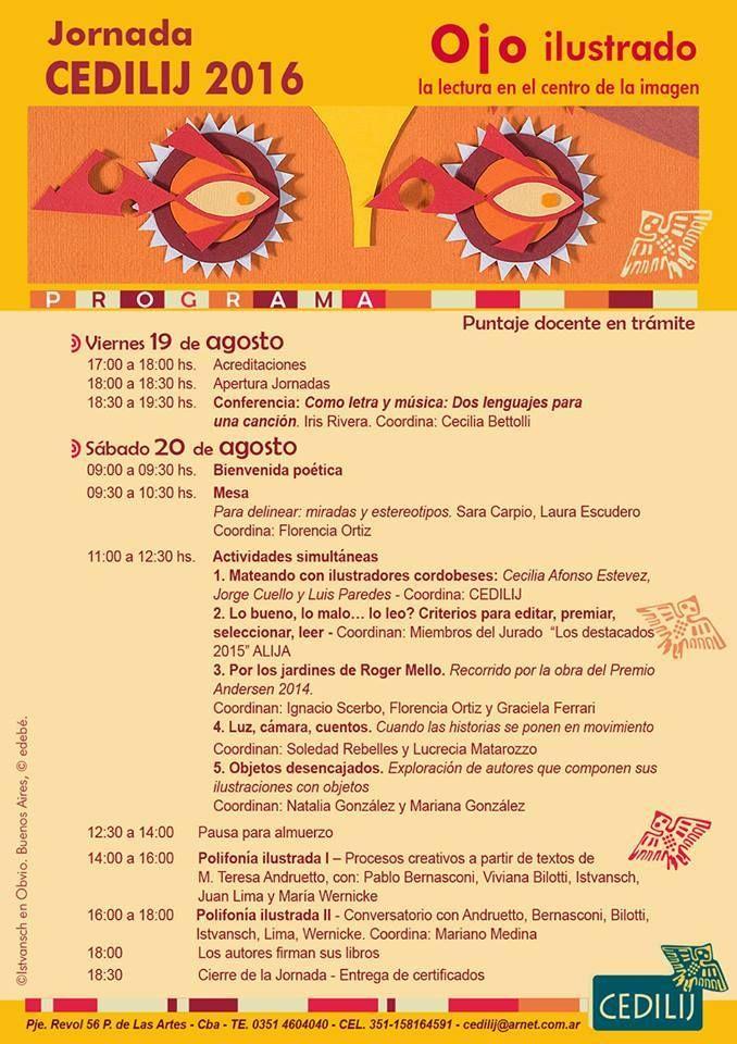 En Córdoba, Jornada CEDILIJ 2016 | LITERARIAS | Por Gabriela Mariel Arias