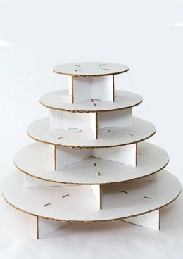 26.00 SALE PRICE! The Original Cupcake Tree holds up to 100 cupcakes.. A corrugated cardboard cupcake stand with 5 tiers that can hold up to 100 standard s...