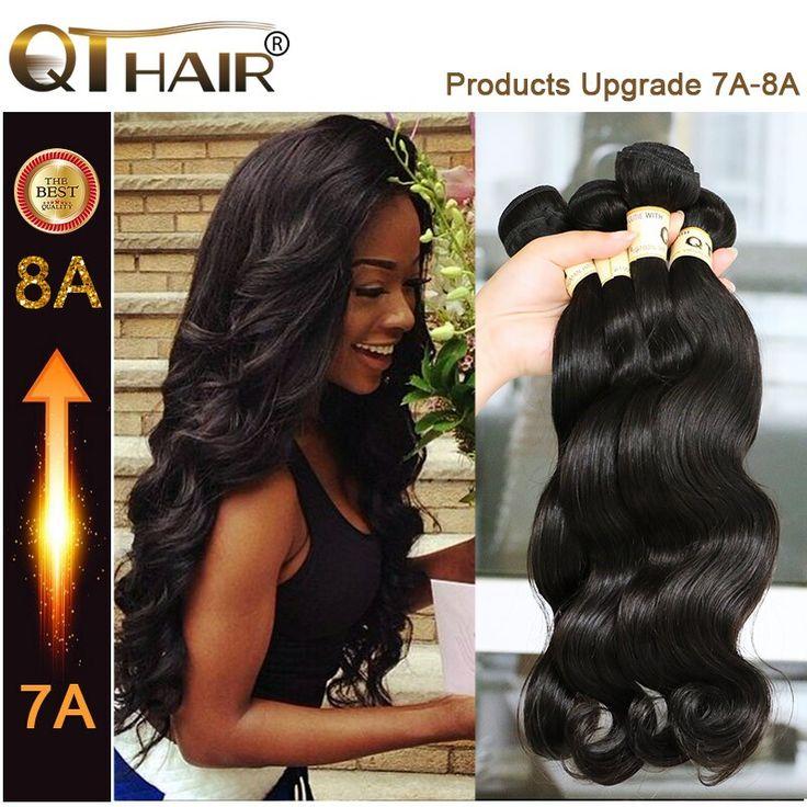 Queen hair producten braziliaanse lichaam 4 bundels onbewerkte 7a grade braziliaanse virgin haar golvend braziliaanse haar weave bundels