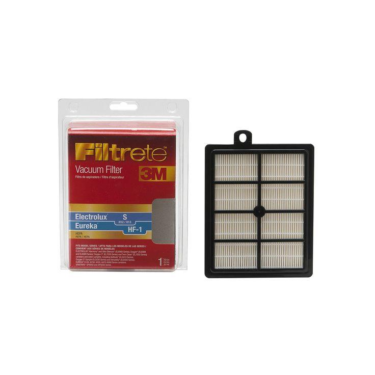 3M Filtrete Electrolux S & Eureka HF-1 Hepa Vacuum Filter, Multicolor