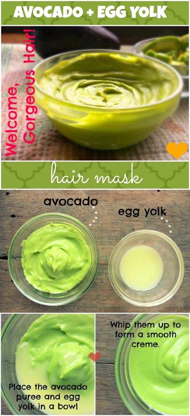 The Best Step By Step Tutorials For Homemade Hair Treatment For Damaged Hair - How to Make an Avocado Egg Yolk Hair Mask - How To Repair Damaged Hair Fast With Simple And Easy Hair Products And DIY Remedies. Hair Treatment At Home For Hair Loss And Ideas And Tips And Tricks For How To Repair Damaged Hair. Try Coconut Oil, Apple Cider, And Some Other Simple Natural Treatments To Get Hair Care That Works And Keeps Your Hair Healthy and Shiny…