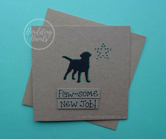 New job card Labrador card Black Labrador card Handmade new