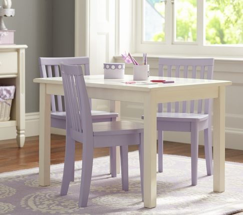 Carolina Small Table, Simply White | Pottery Barn Kids ($119.00)