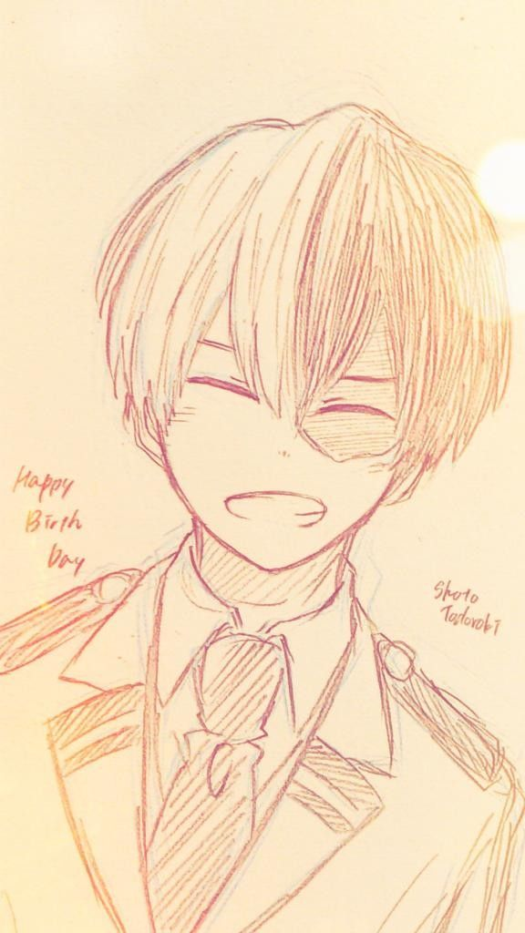 Todoroki Shouto S Birthday 1 11 Anime Sketch Anime