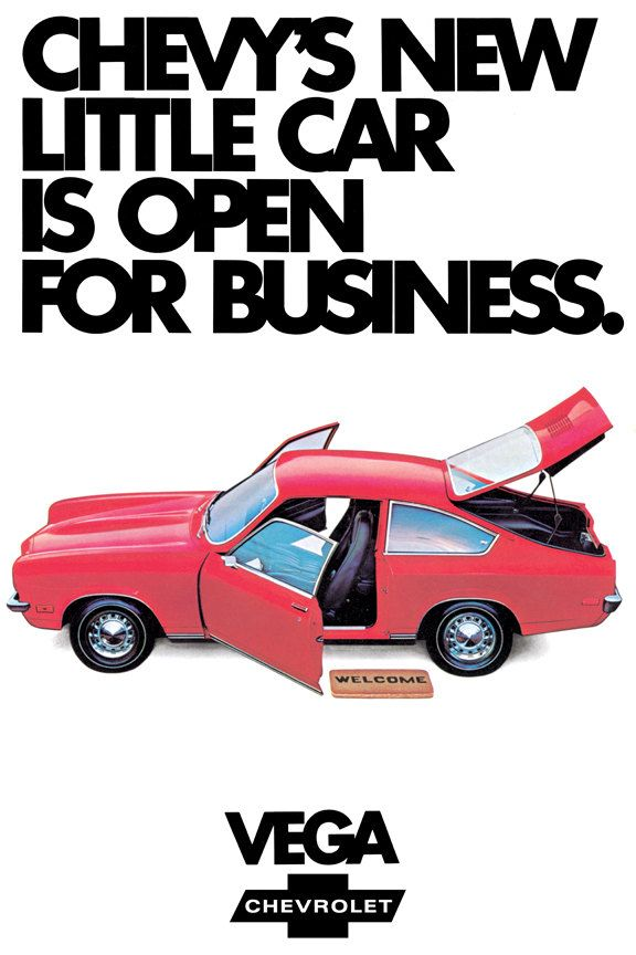 1971 Chevrolet Vega Poster Size Ad by AtomicScrapbook on Etsy