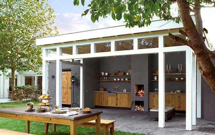 Outdoor living area Buitenkeuken