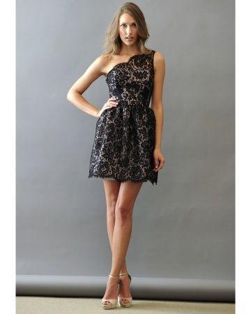 Black Lace: Black Lace, Black Bridesmaids, Shorts Lace, Black Bridesmaid Dresses, Lace Bridesmaids, Spring 2013, Martha Stewart Wedding, Lace Dresses, Lace Bridesmaid Dresses