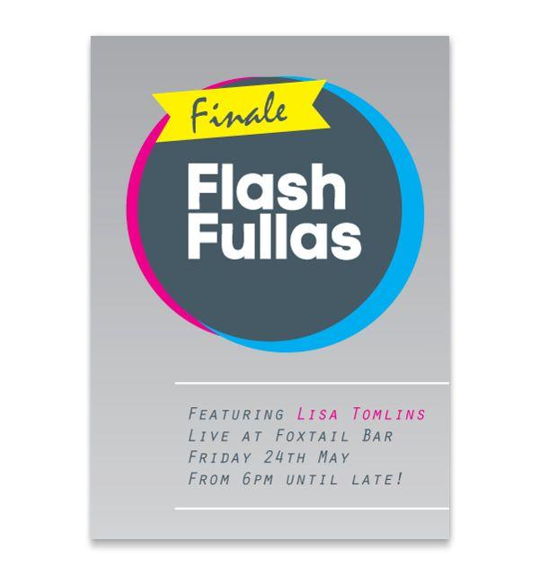 Flash Fullas - Finale Poster, via Behance