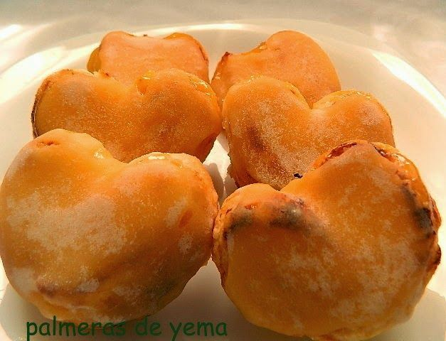las recetas de mi abuela: PALMERAS DE HOJALDRE CON CREMA DE YEMA