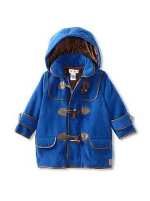 67% OFF Hippototamus Boy's Duffle Coat with Removable Hood (Blue/Brown Trim)