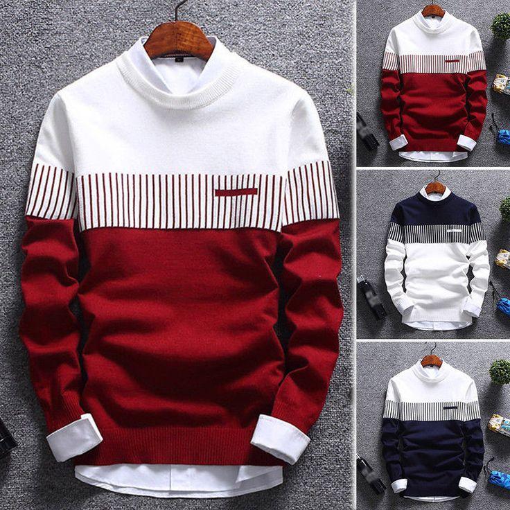 Korean Stylish Cardigan Jacket Jumper Men Knit Pullover Coat