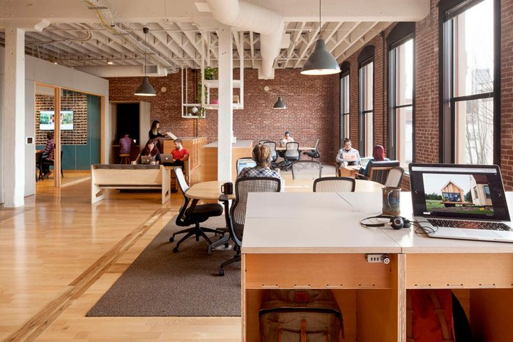 Airbnb's Portland office revolutionizes work by creating a space that invites employees to Belong Anywhere. The design dissolves the idea of a desk as an individual's address at work.