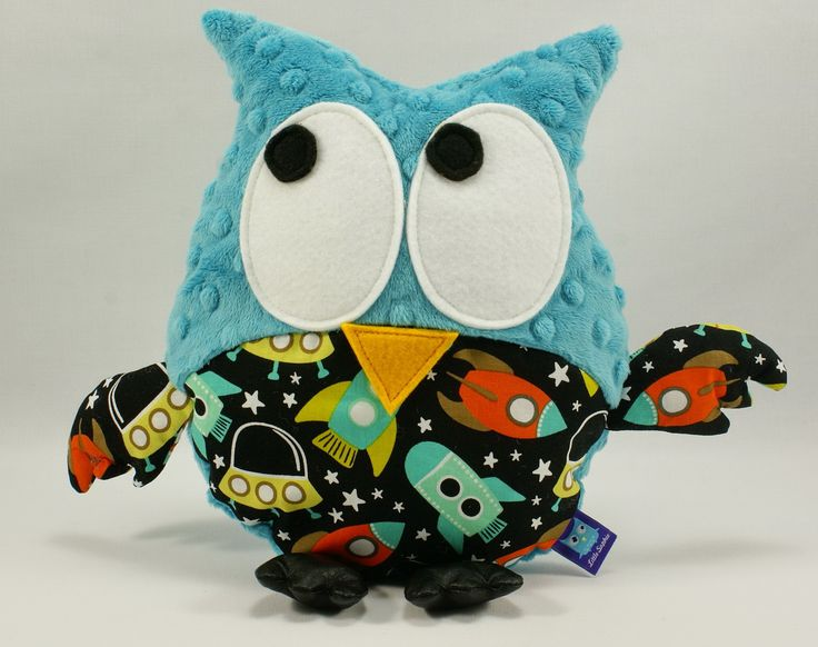 #rocket #space #owl #owls #littlesophie #minky #plushowl