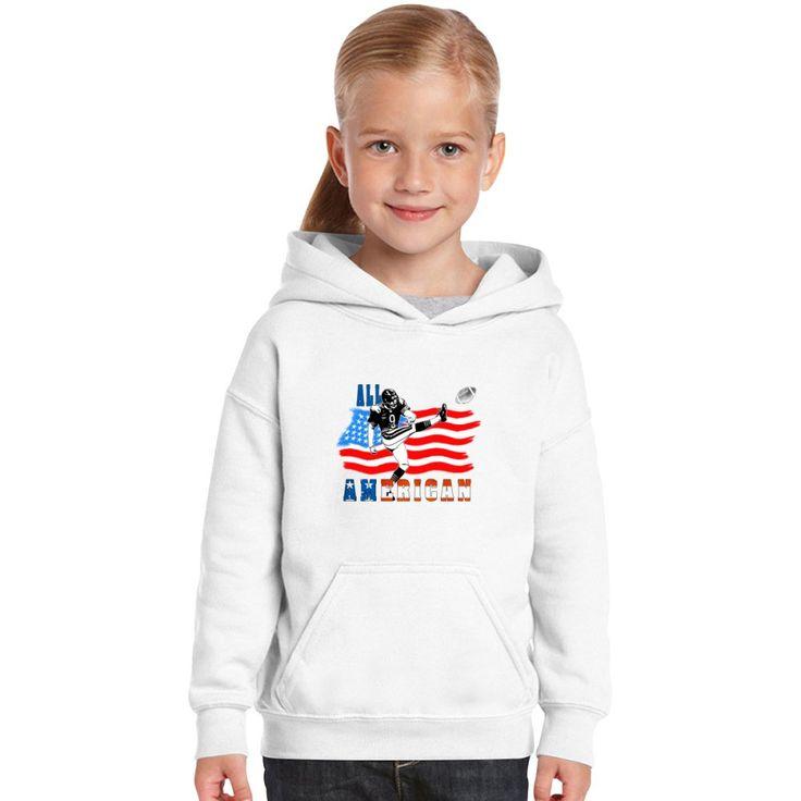 All American Football Field Goal Kicker Kids Hoodie