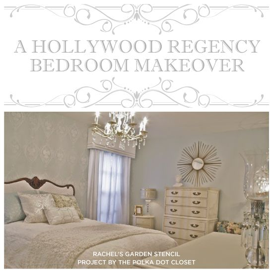 A Hollywood Regency Bedroom Makeover   Good Morning, My Sleeping Beauties!  Today Cutting Edge