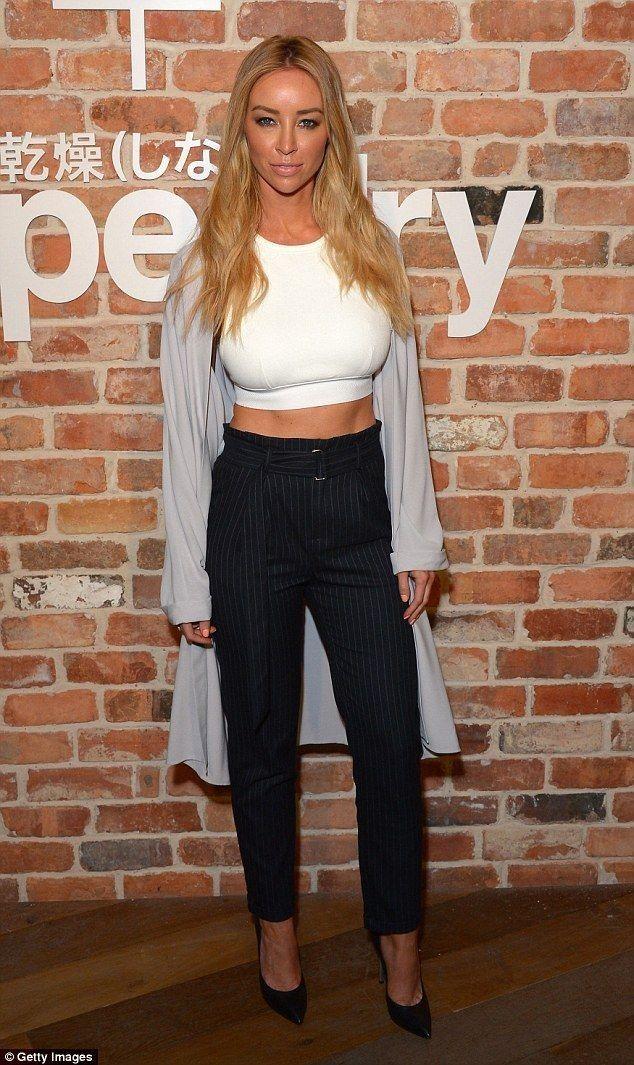 Lauren Pope.. Alexander Wang top, Oasis jacket, Bershka trousers, and Casadei heels..... - Celebrity Fashion Trends