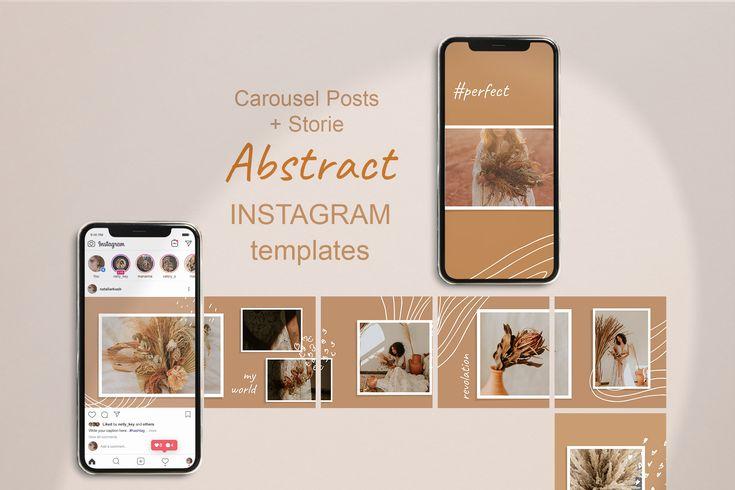 Carousel Instagram Template Photoshop Abstract Theme Sosial Etsy In 2021 Instagram Template Instagram Design Facebook Design