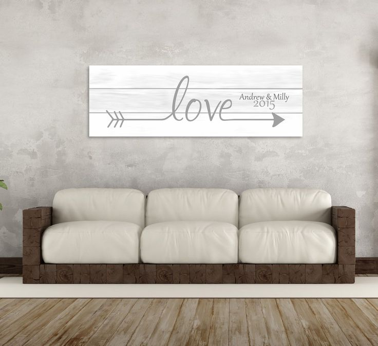 "A personalized love arrow canvas. Customize with your names and a special date. It can also be made without names and a date if preferred. Instructions Step 1: Choose your canvas size from the drop down menu. Step 2: Choose how many you would like to order. Step 3: Place the order by pressing ""Add To Cart"" Step 4: Check out by going to your cart Step 5: Place the custom details in the notes section during checkout. Step 6: Once the order is placed, you will receive a thank you email from..."