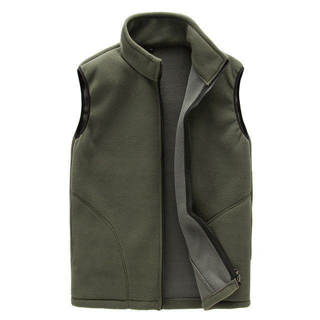 Facecozy Women&Men Autumn Outdoor Fleece Vest Winter Couples Stand Collar Windproof Fishing Vests