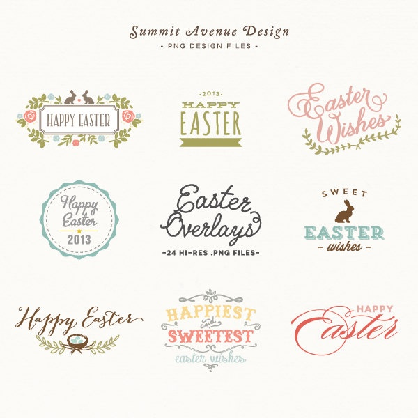 SALE  Easter Overlay design elements - for personal or photography use - INSTANT DOWNLOAD. $8.00, via Etsy.