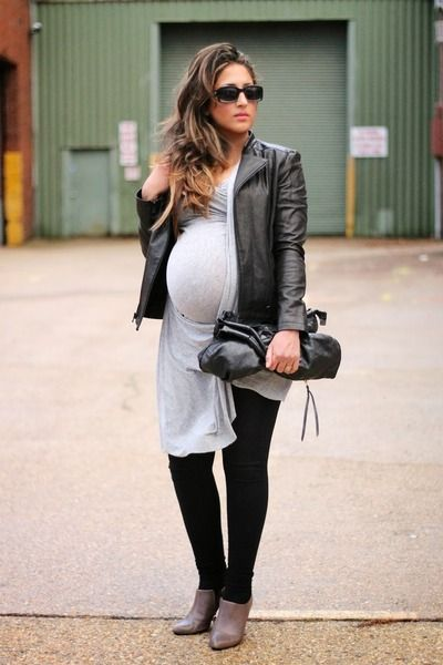 Leather+Details+Maternity+Style