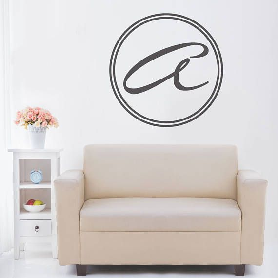 Monogram Decal - Monogram Wall Art - Monogram Wall Decal - Monogram Wall Decor - Wall Decals - Wall Stickers - Custom Decals