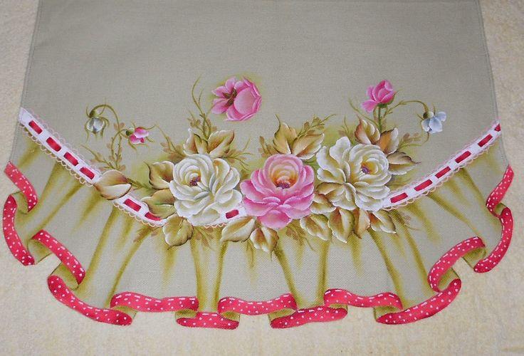 @ngela @artes: Pintura em Tecido - Pano de Prato