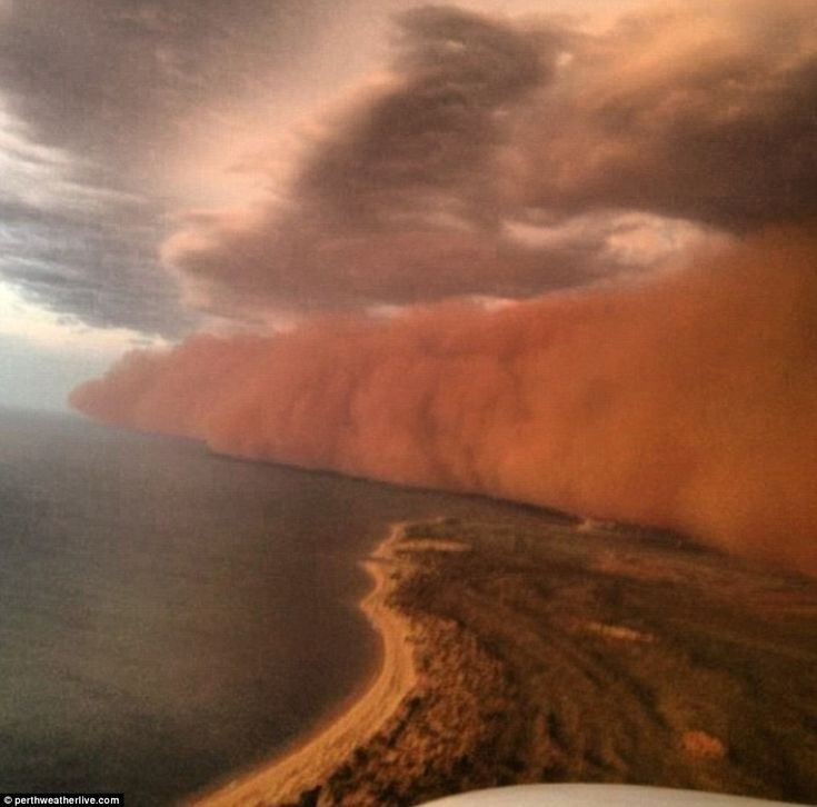 Wall of sand whipped up by Tropical Cyclone Narelle hits Onslow, Western Australia