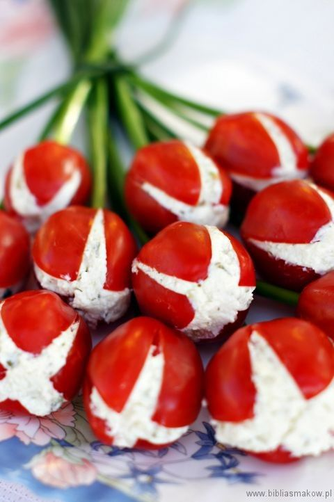 Tomato Tulips by bibliasmakow #Appetizers #Tomatoes