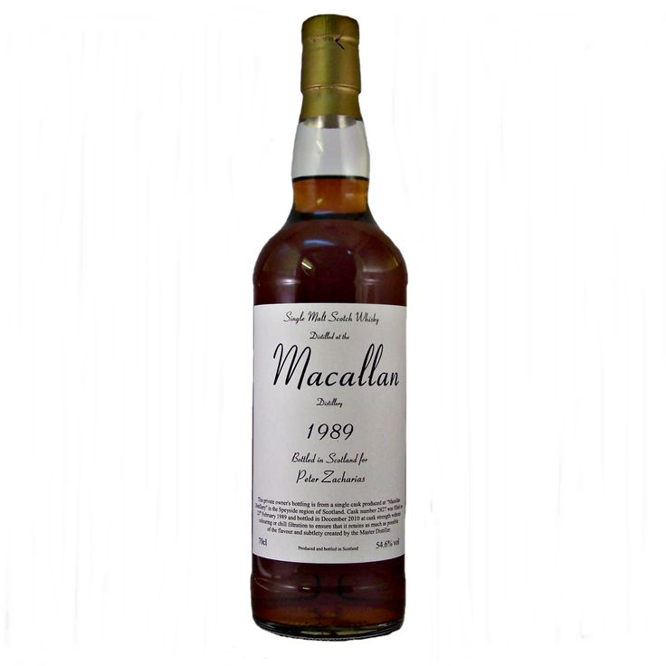 Macallan 1989 Single Malt Whisky this 21 year old scotch whiskey was privatley bottled in 2010 Scotland for Peter Zacharias buy online at whiskys.co.uk