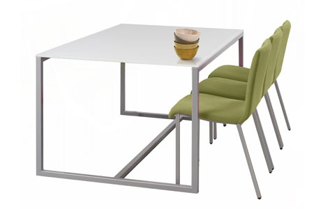 Dado dining table casalife avail with white quartz top for Quartz top dining table
