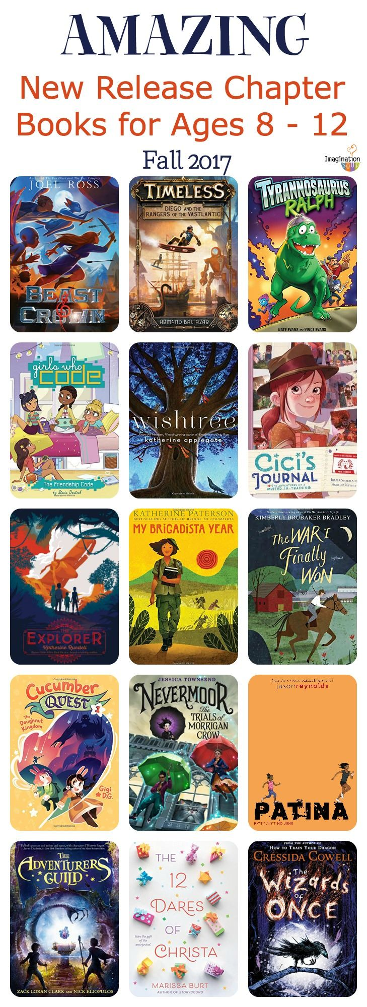 newly published chapter books for ages 8 to 12 that are AWESOME!