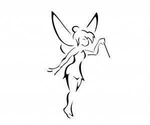 Adorable Tinkerbell tattoo