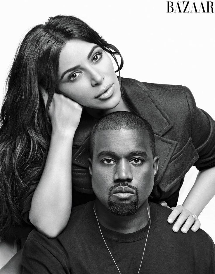 Kim and Kanye for Harper's Bazaar US September 2016.