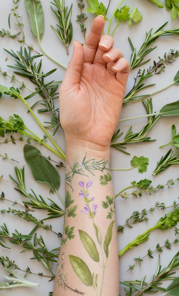 Tattly: herb scented tattoo set | Vincent Jeannerot